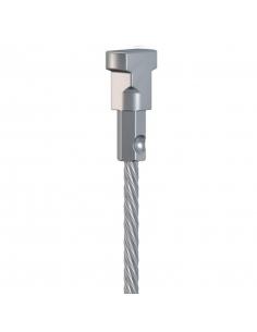 CABLE ACERO para colgar cuadros para guias para colgar cuadros artiteq, de 1,8 mm, con cabezal conector TWISTER, de 2 metros