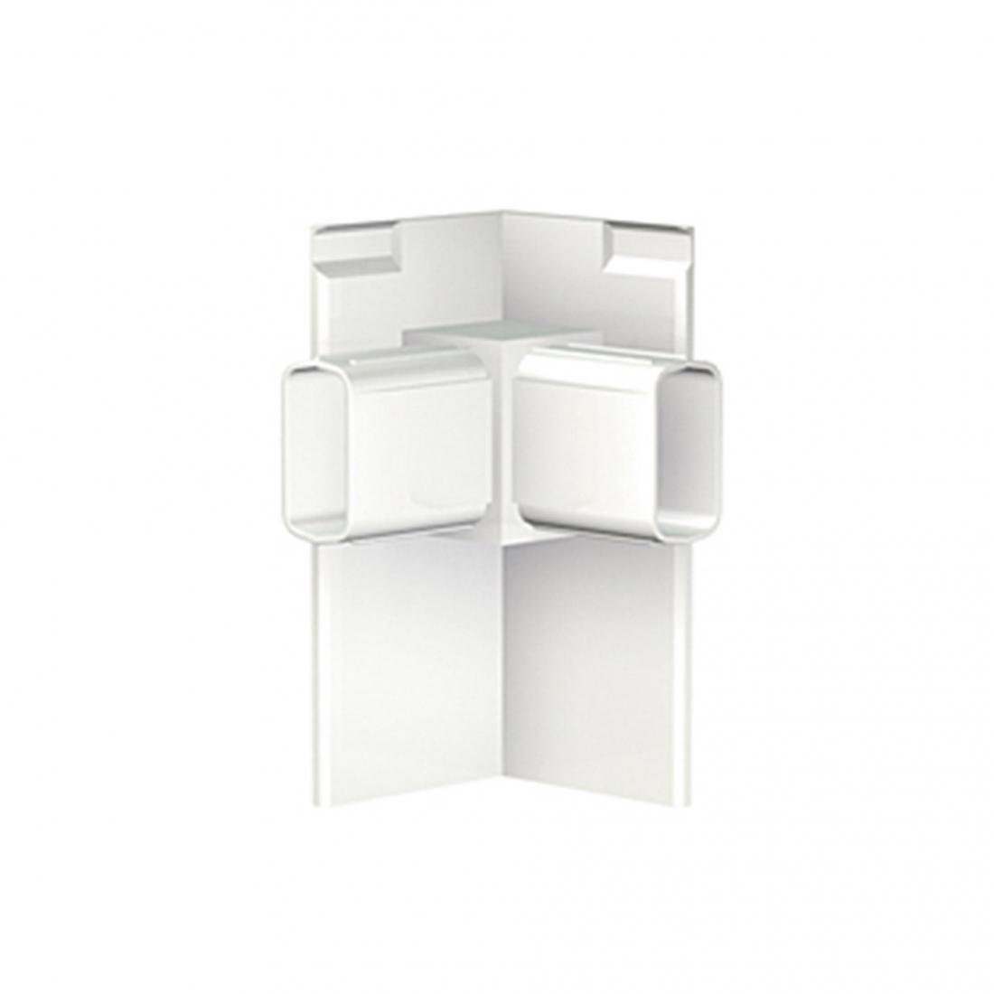 conector color blanco esquina de pared para tira de perfil riel guia para colgar cuadros sin hacer agujeros, artiteq pro 50 kg