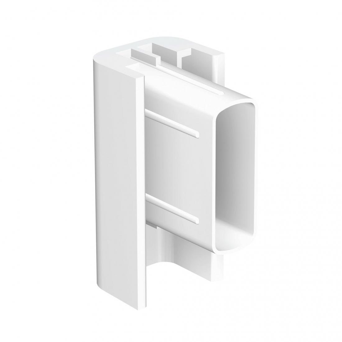 final de guia blanco para tira de perfil riel guia para colgar cuadros sin hacer agujeros, de pared, artiteq rail 30 kg