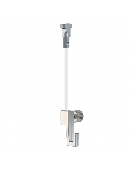 KIT CABLE de NYLON con gancho colgador para guias para colgar cuadros artiteq, modelo TWISTER de 4 KG