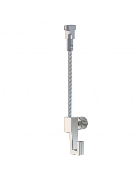 KIT CABLE ACERO con gancho colgador para guia para colgar cuadros artiteq modelo TWISTER de 4 KG