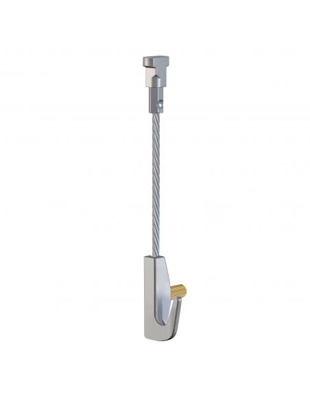 KIT CABLE de ACERO con gancho colgador para guia para colgar cuadros artiteq, modelo TWISTER de 7 KG