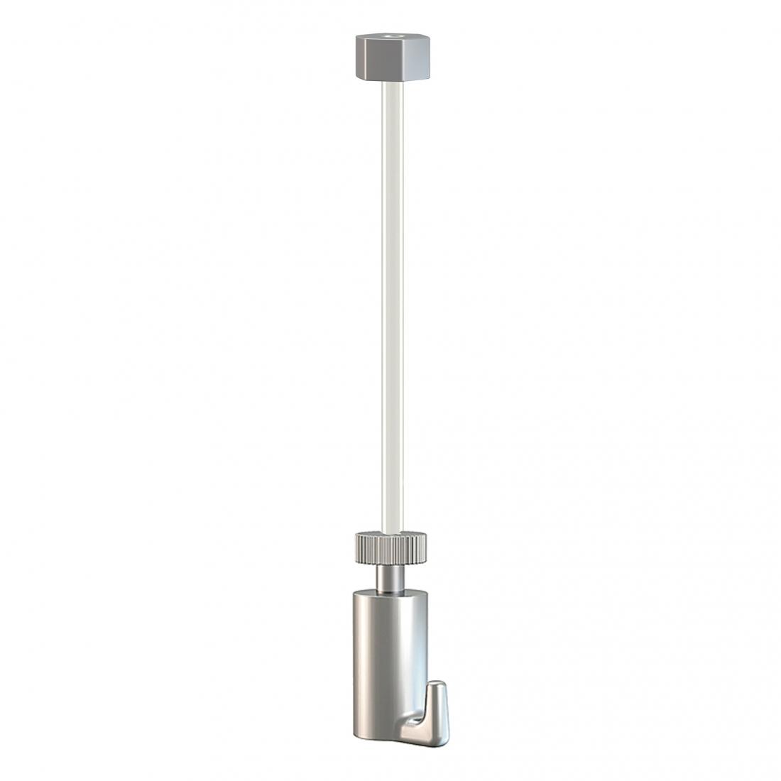 kit de cable de nylon con gancho colgador para guia para colgar cuadros con tope invisible, artiteq 15kg