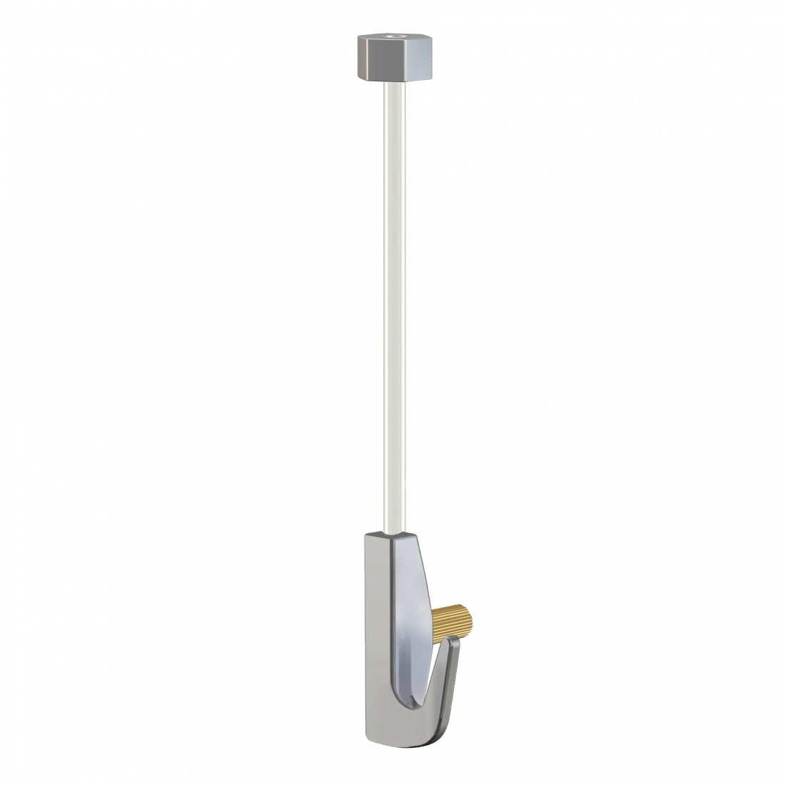 kit de cable de nylon con gancho colgador para guia para colgar cuadros con tope invisible, artiteq 7 kg