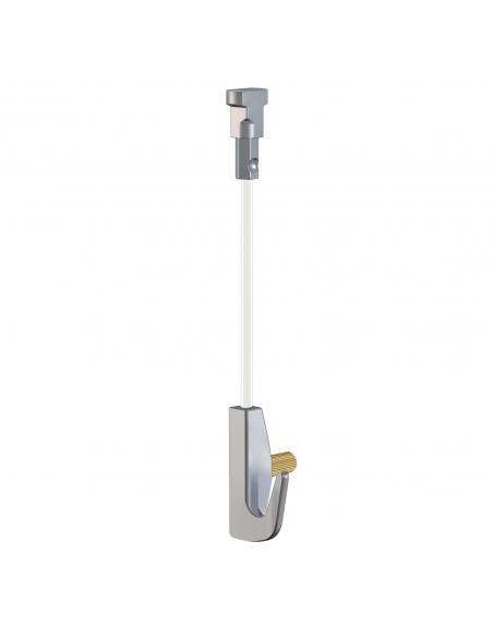 KIT de CABLE de NYLON con gancho colgador para guias par colgar cuadros de artiteq, modelo TWISTER 7 KG