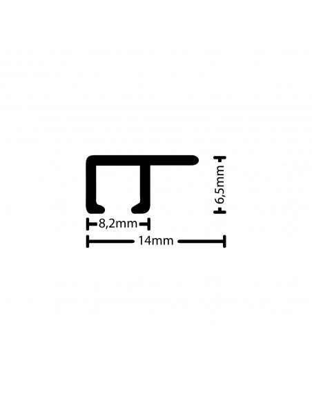 medidas de la guia de techo para colgar cuadros artiteq
