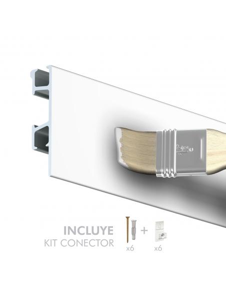 tira de perfil guia y riel para colgar cuadros PRO 50 Kg, de artiteq, color blanca