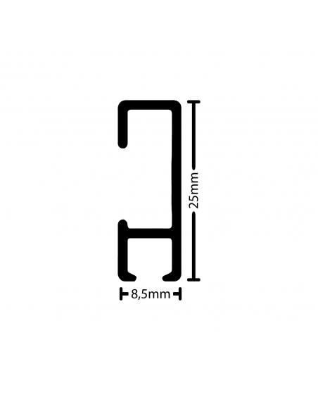 medidas de la tira de perfil, riel y guia para colgar cuadros de pared artiteq