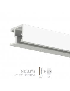 Sistema de guias para colgar cuadros CONTOUR de Artiteq, color blanco